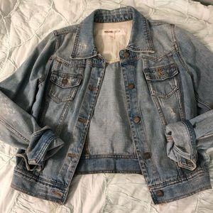 Mossimo Distressed Denim Jacket Large
